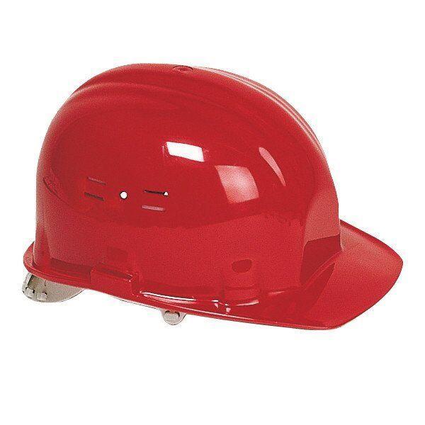 Каска будівельна захисна Classic, червона