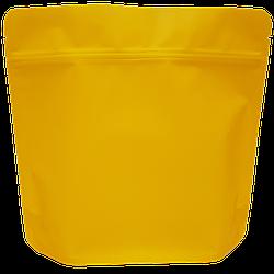 Пакет Дой-пак 200*190 дно (36+36) желтый с тактильным матовым лаком