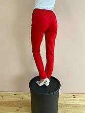 Штаны медицинские Слимс. Красный. Стрейч легкий. Саталь, фото 3