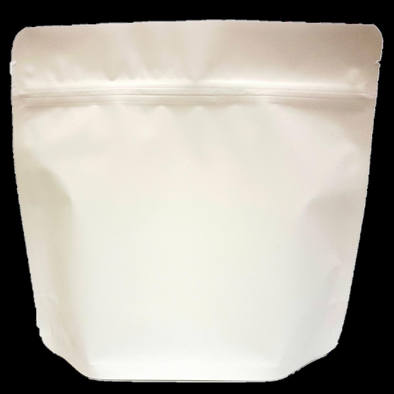 Пакет Дой-пак 200*190 дно (36+36) білий з тактильним матовим лаком