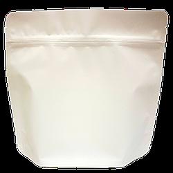 Пакет Дой-пак 200*190 дно (36+36) белый с тактильным матовым лаком