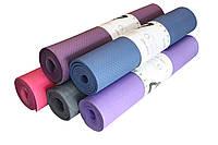Лучшее качество. Коврик для йоги большой, прочный, нескользящий, TPE 180*60 толщина 8мм
