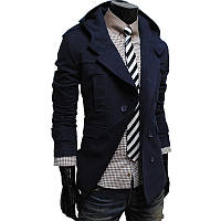 Кашемировое пальто с капюшоном черного цвета зима