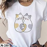 Футболка женская с принтом белая, хлопковая футболка с надписью Love прикольная