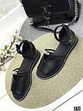 Женские шикарные сандалии босоножки с ремешком и бусинками из натуральной кожи, много цветов, фото 6