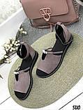 Женские шикарные сандалии босоножки с ремешком и бусинками из натуральной кожи, много цветов, фото 4