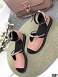 Женские шикарные сандалии босоножки с ремешком и бусинками из натуральной кожи, много цветов, фото 10