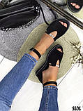 Женские шикарные сандалии босоножки с ремешком и бусинками из натуральной кожи, много цветов, фото 7