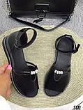 Женские шикарные сандалии босоножки с ремешком и бусинками из натуральной кожи, много цветов, фото 8