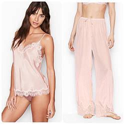 Victoria's Secret Легкая Пижама Lightweight PJ Set p. XL, Розовая