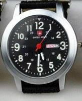 Часы SWISS ARMY Military Style black-silver
