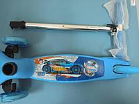 Детский трехколесный самокат 5411 ГОЛУБОЙ ХОТ ВИЛС