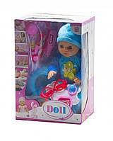 Детская кукла пупс беби борн с набором доктора: градусник, стетоскоп, шприц и др.