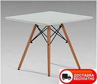Столик детский Алор Small белый квадратный, дизайн Сharles Eames 60х60 см высота 44 см