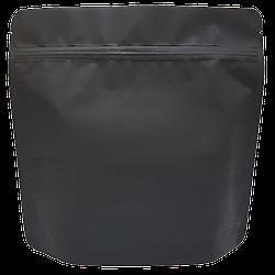 Пакет Дой-пак 200*190 дно (36+36) черный с тактильным матовым лаком