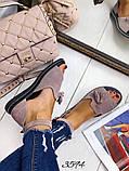 Жіночі шикарні босоніжки, сандалі з висюлькой з натуральної шкіри, багато квітів, фото 6