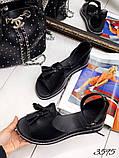 Жіночі шикарні босоніжки, сандалі з висюлькой з натуральної шкіри, багато квітів, фото 8