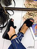 Жіночі шикарні босоніжки, сандалі з висюлькой з натуральної шкіри, багато квітів, фото 10