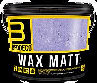 Воск для фактурной штукатурки Wax Matt TM Brodeco 3л