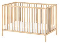 Деревянная кроватка для новорожденных люлька с бортиками (120 см) (бук), фото 1