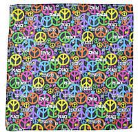 ⭐Бандана классическая разноцветная Peace, фото 1
