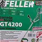Бензокоса Feller GT-4200 4 насадки + ремень-рюкзак. Мотокоса Філлер, фото 2