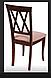 Кухонный стул из массива дерева с мягкой сидушкой - Венеция -Н (цвет орех), фото 4