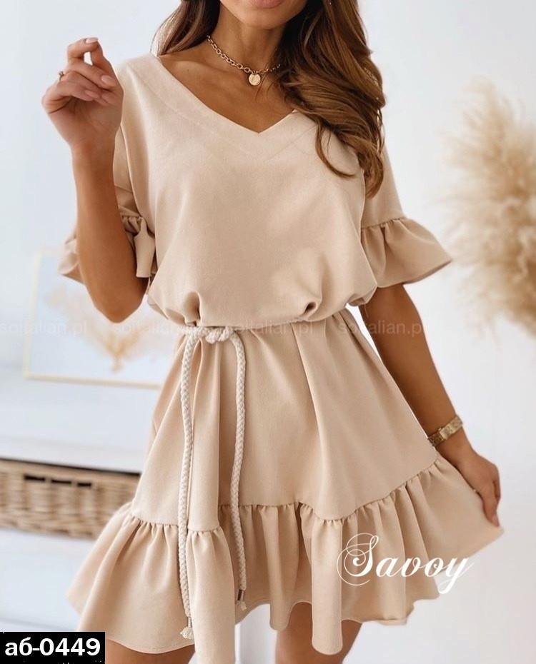 Женское стильное летнее платье Разные цвета
