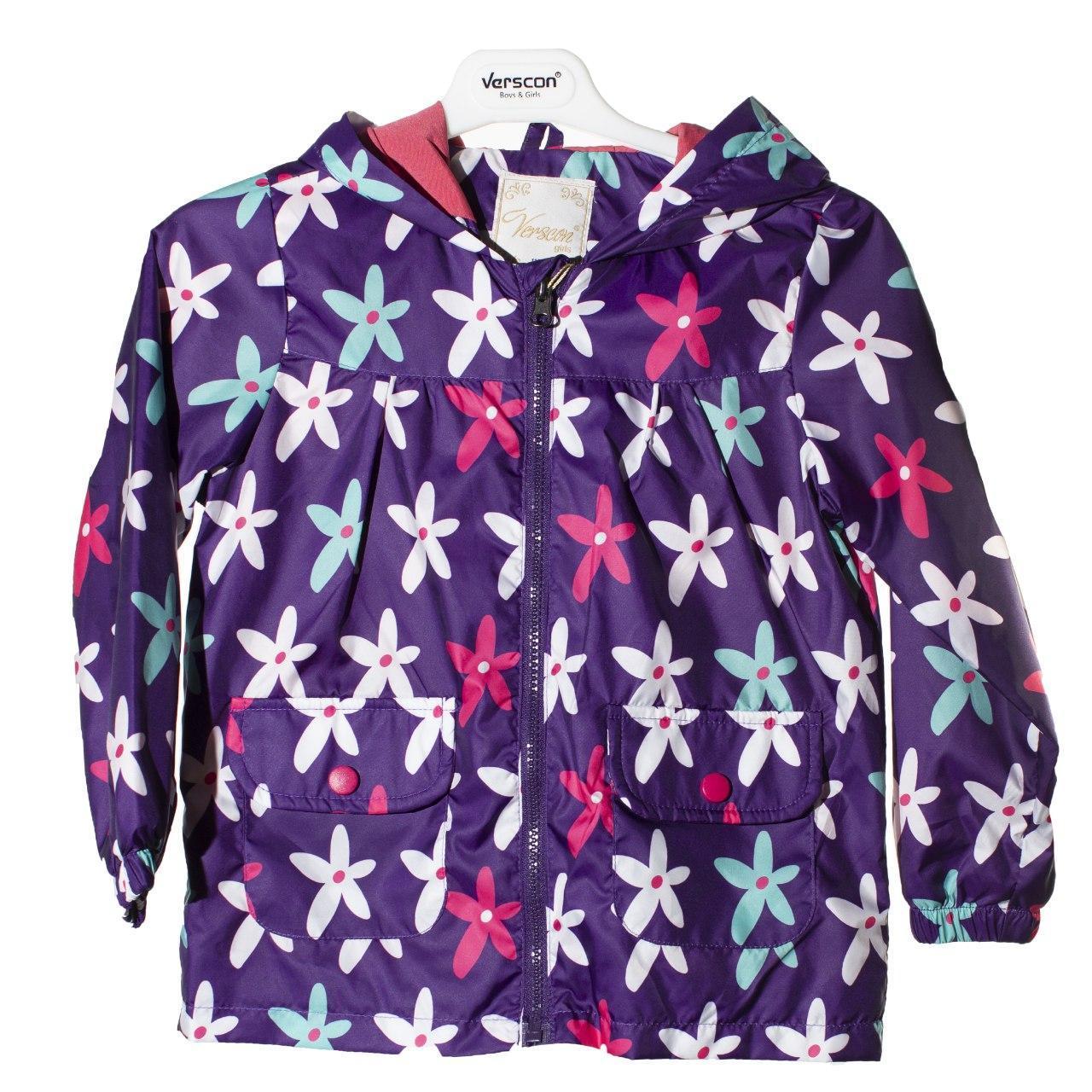 Куртка - вітровка для дівчинки, розміри 4, 5, 6, 7, 8 років