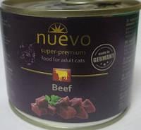 Консерва для кошек Nuevo (Нуэво) с говядиной, 200 г