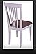 Кухонный стул с мягкой сидушкой -Милан -Н (белый, слон.кость), фото 2
