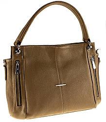 Женская сумка Eminsa 40225-37-17 кожаная бежевая
