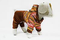 Комбинезон дождевик  для собак Орнамент