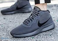 Кроссовки ботинки мужские утепленные Nike Tanjun Chukka 858655-002 (Оригинал)- Серые