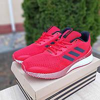 Яркие мужские кроссовки в стиле Adidas Nova Run X текстильные дишащие адидасы красные