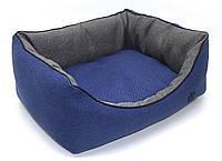 Лежак для собак и кошек Лофт синий