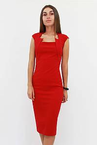 S, M, L, XL   Класичне жіноче плаття-футляр Roksen, червоний
