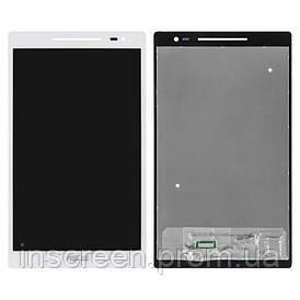 Экран (дисплей) Asus ZenPad Z380C, Z380M с тачскрином (сенсором) белый, с синим шлейфом