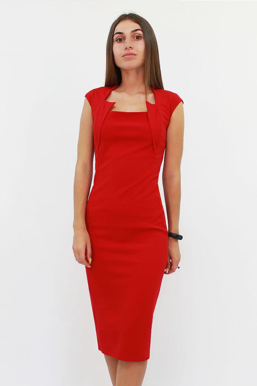S, M, L, XL | Класичне жіноче плаття-футляр Roksen, червоний