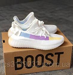 Женские кроссовки Adidas Yeezy Boost 350 V2 Full Whit (белые)