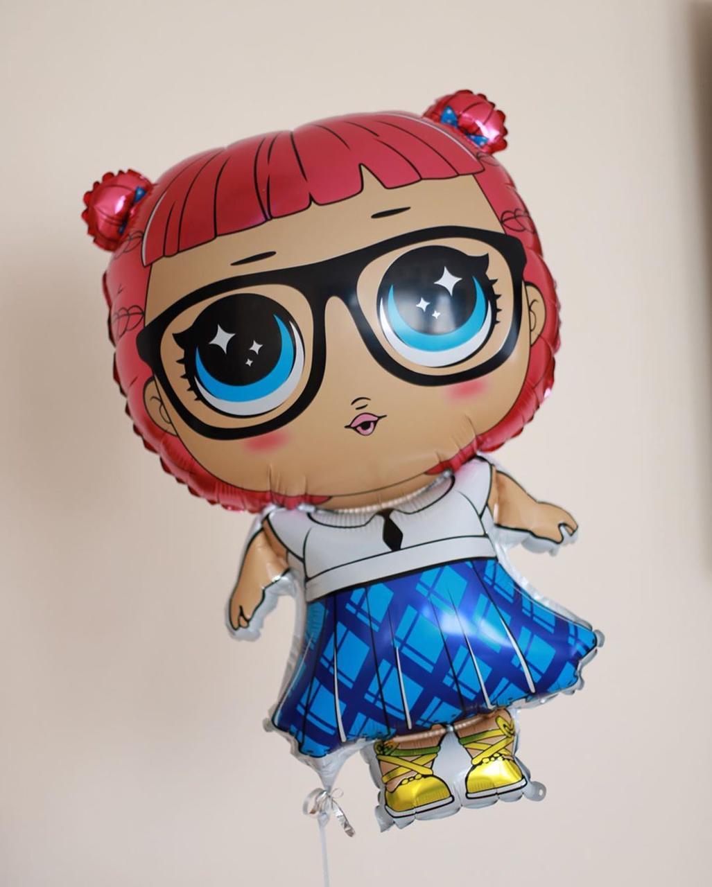 Фольгований куля Лялька LOL школярка Китай, 68*47 см 1596