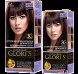 Краска для волос 4.56 натуральный кофе Glori's 50мл