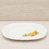 Блюдо белое с деколью 36см, фото 1