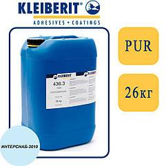 Kleiberit 436.3 1К/2К ПУР-дисперсия для 3D прессования, низковязкая, белая   26 кг  