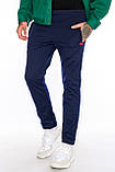 Мужские спортивные брюки на флисе М 101 черные, фото 3