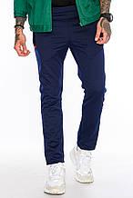 Мужские спортивные брюки на флисе М 101 черные