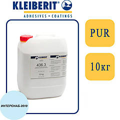 Kleiberit 436.3 1К/2К ПУР-дисперсия для 3D прессования, низковязкая, белая   10 кг  