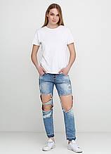 """Голубые летние прямые джинсы What""""s up    28р."""