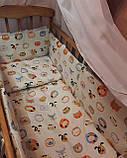Комплект постельный в детскую кроватку, с защитой и балдахином, фото 2
