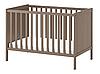 Детская кроватка для новорожденных с бортиками коричневая 120см